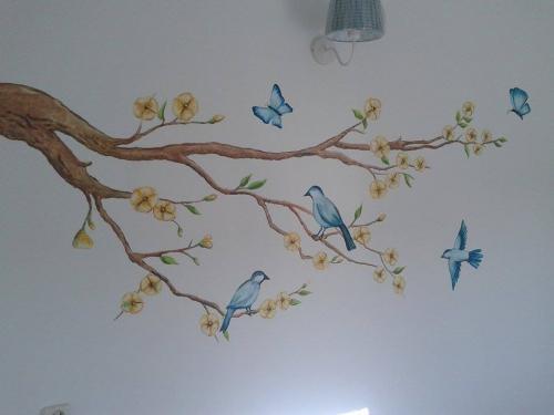 muurschildering Klazina